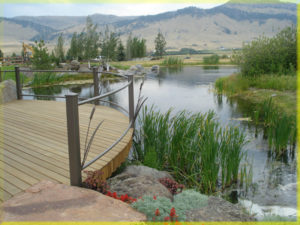 Waterfall and Water features in Montana Landscape designs.