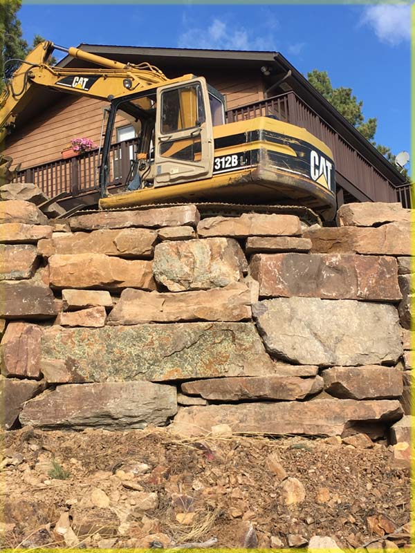 Landscape Boulder Retaining wall Wall